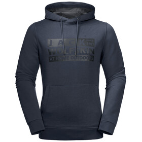 Jack Wolfskin Brand Hoody Heren, night blue